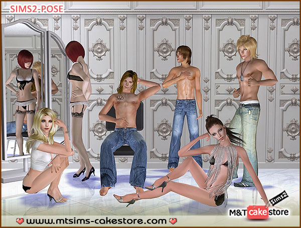 Infinite sexy poses box by MTSims for Sims2Cri
